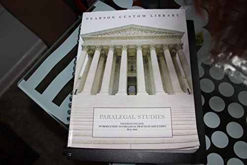 9781269288439: Valencia College Introduction to Paralegal Practices and Ethics (PLA 1003)