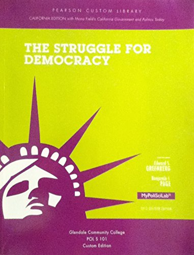 9781269301985: STRUGGLE FOR DEMOCRACY - Glendale Community College edition