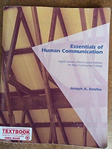 9781269310307: Essentials of Human Communication (CUSTM) Mesa CC