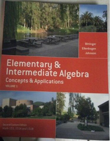 9781269311090: Elementary and Intermediate Algebra, Volume I