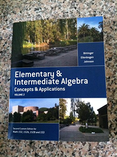 9781269311212: Elementary & Intermediate Algebra (Volume 2) Concepts & Applications
