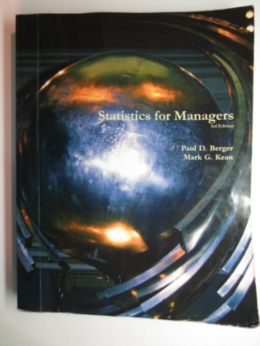9781269330541: Statistics for Managers: 3rd Edition