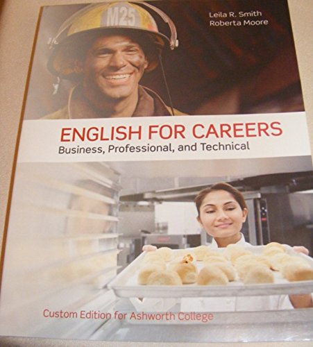 9781269332248: English For Careers - Business, professional, and Technical - Custom Edition for Ashworth College