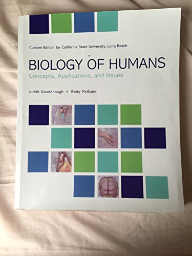 9781269332262: Biology of Humans Concepts, Applications and Issues CSULB