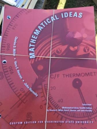 9781269335461: Mathematical Ideas Custom WSU Edition