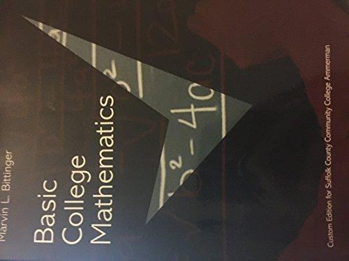 9781269343824: Basic College Mathematics SCCC Edition