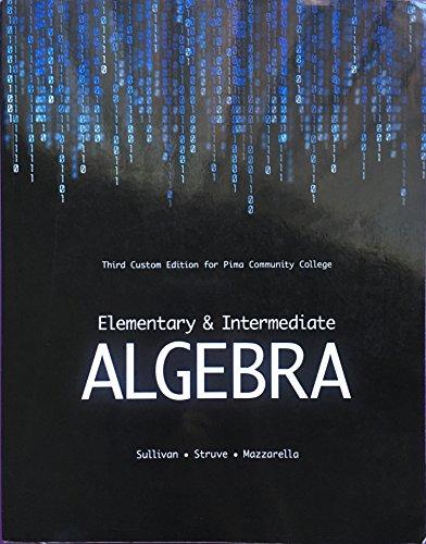 Elementary & Intermediate Algebra (PIMA): Sullivan