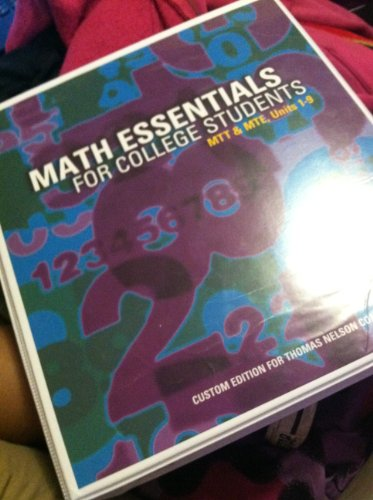 9781269351676: Math Essentials for College Students