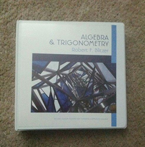 9781269352437: Algebra & Trigonometry Second Custom Edition for Tidewater Community College
