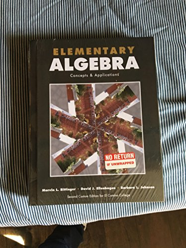 9781269355728: Elementary Algebra Concepts and Applications 9th Edition (Second Custom Edition for El Camino College)