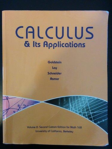 9781269362689: Calculus & Its Applications Volume 2: Second Custom Edition for Math 16B UC Berkeley