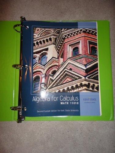Algebra for Calculus Math 11010 2nd Custom: Judith A Beecher,