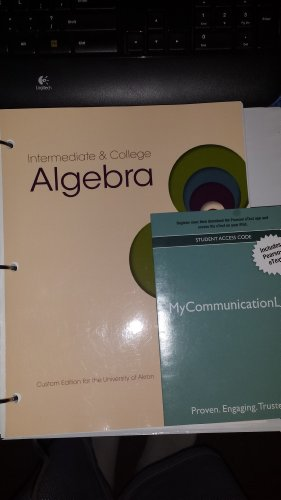 9781269375573: Intermediate and College Algebra Custom Edition for the University of Akron