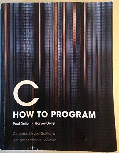 9781269377317: C How to Program