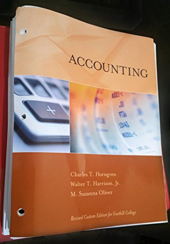 9781269388863: Accounting Revised Custom Edition for Foothill College