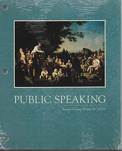 9781269396325: Public Speaking UNLV - COM 101 UNLV Looseleaf Text - David Zarefsky