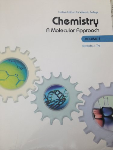 9781269396455: Chemistry: A Molecular Approach Vol 1 (Custom Edition for Valencia College)