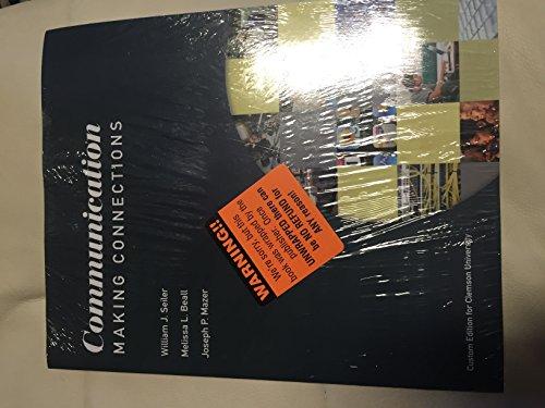 9781269399913: Communication Making Connections: Custom for Clemson University