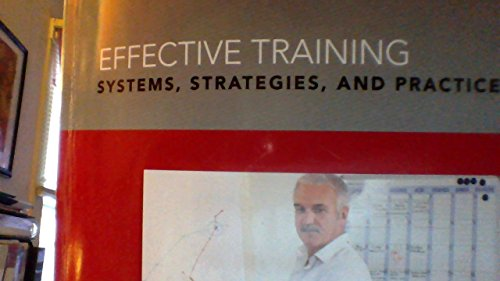 9781269408165: Effective Training (Systems, Strategies, and Practices) Strayer University