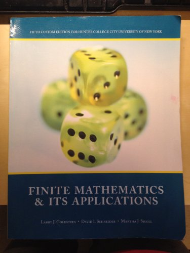 9781269409551: Finite Mathematics & Its Applications (5th custom edition for Hunter College CUNY)
