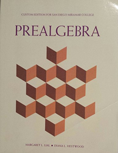 9781269411257: Prealgebra (Custom Edition for San Diego Miramar College)