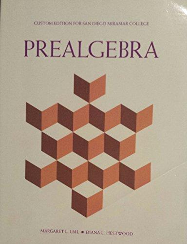 9781269411257: Prealgebra (Custom Edition for San Diego Miramar College)