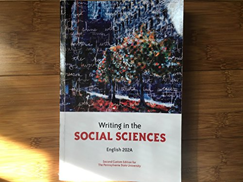 9781269417310: Writing in the Social Sciences: English 202A (Penn State University)