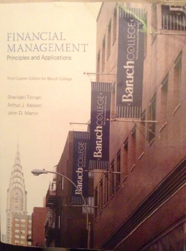 9781269417426: Financial Management, 3rd Custom Edition for Baruch College