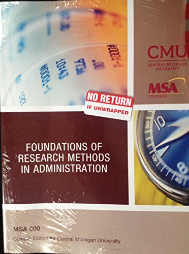 9781269418515: Foundations of Research Methods in Administration