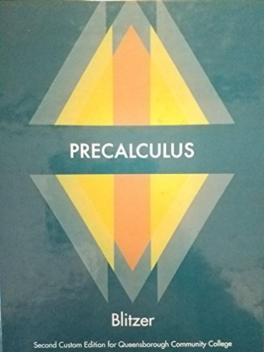 9781269418720: Precalculus 2nd Custom Edition for Queensborough Community College QCC