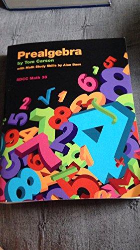 9781269420556: Prealgebra for San Diego City College Math 38