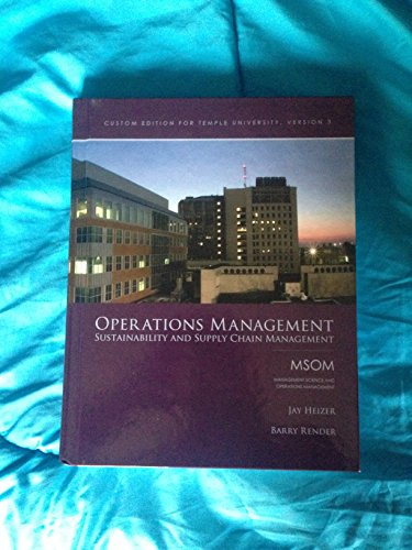 9781269424660: OPERATIONS MANAGEMENT >CUSTOM<