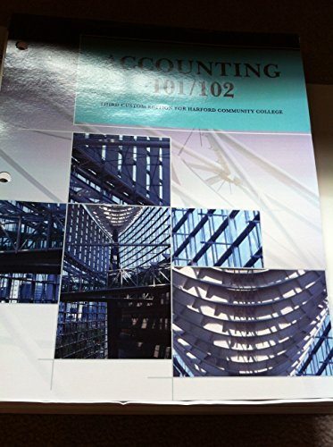 9781269432139: Accounting 101/102 Third Custom Edition for Harford Community College
