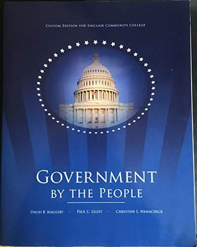 9781269433372: Government by the People, Sinclair Community College