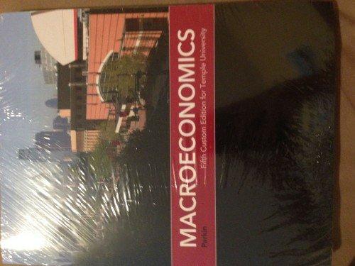 9781269435864: Macroeconomics Fifth Custom Edition for Temple University [Paperback] [Jan 01...