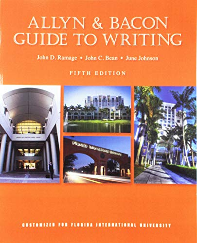 ALLYN+BACON GUIDE TO WRITING >CUSTOM<