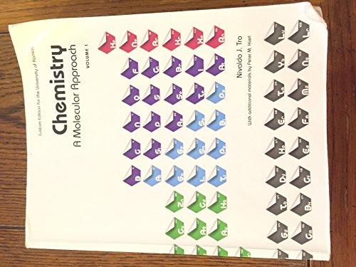 9781269515856: Chemistry a Molecular Approach (Custom Edition for the University of Kansas)