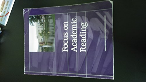 9781269527057: Focus on Academic Reading (Reading, Third Custom Edition for Montgomery College, MD)