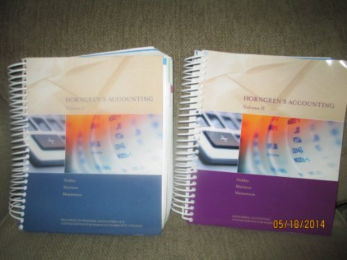 9781269542555: Horngren's Accounting 10th Edition