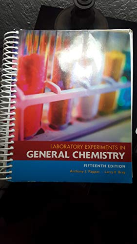 9781269589932: Laboratory Experiments in General Chemistry