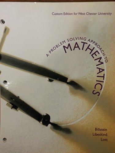 9781269604505: A Problem Solving Approach To Mathematics (WCU)