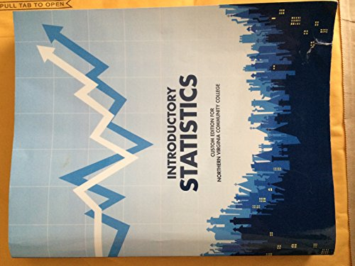 9781269618373: Introductory Statistics Custom Edition for Northern Virginia Community College 9th Ed.