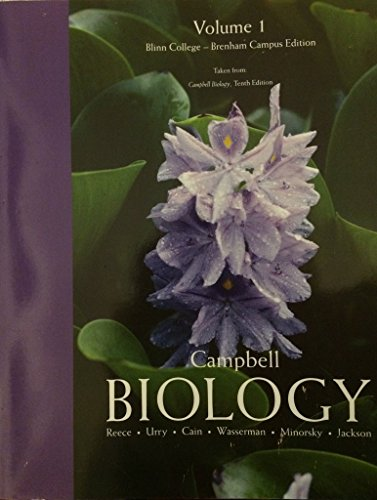 9781269628242: Campbell Biology Volume 1: Tenth 10th Edition Blinn College