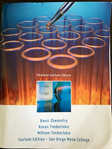9781269663717: Pearson Custom Library Basic Chemistry for San Diego Mesa College