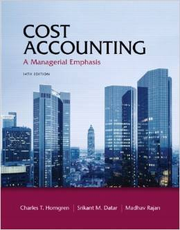 9781269677257: Cost Accounting a Managerial Emphasis (Txt+olcard)