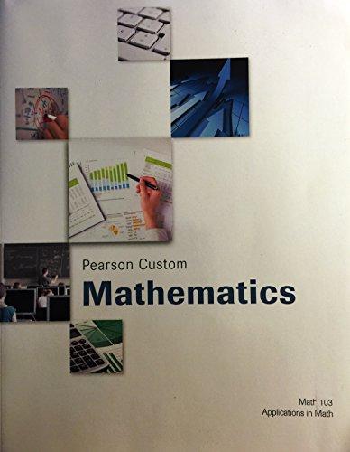 9781269683074: Pearson Custom Mathematics