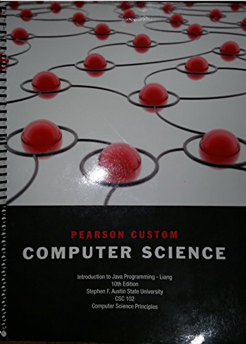 9781269685603: Pearson Custom Computer Science; Introduction to Java Programming