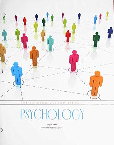 9781269689809: The Pearson Custom Library Psychology (Louisiana State University)