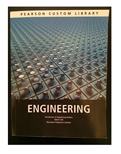 9781269690171: Engineering (Introduction to Engineering Analysis) ENGR 1100 Rensselaer Polytechnic Institute