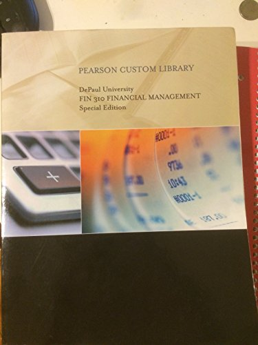 9781269695305: DePaul University FIN 310 FINANCIAL MANAGEMENT Special Edition